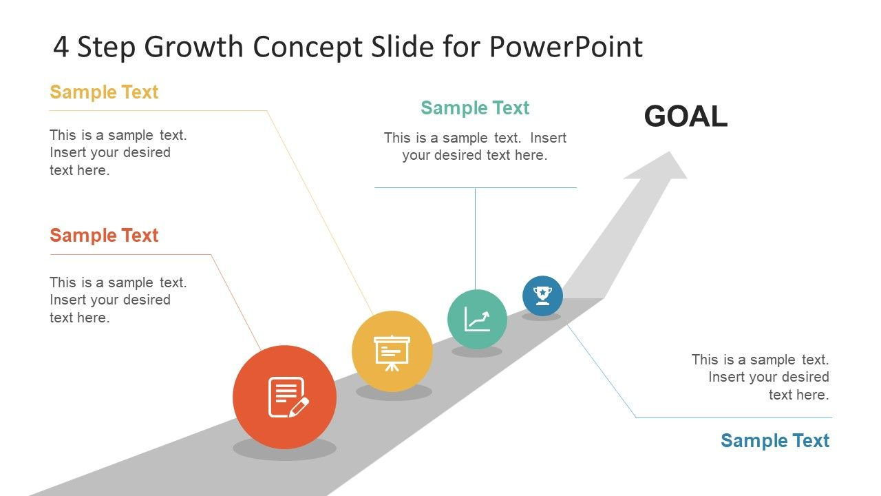 4 Step Growth Concept Powerpoint Template Slidemodel Powerpoint Templates Powerpoint Design Powerpoint