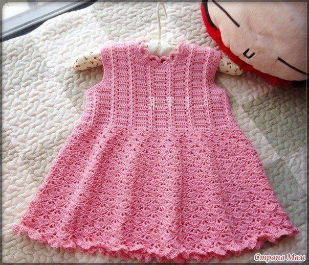 Patrones vestidos tejidos crochet para bebes