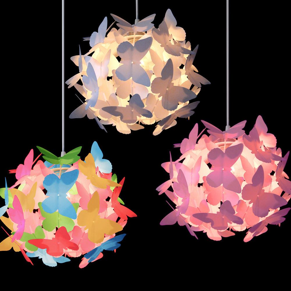 Girls Butterfly Ceiling Pendant Light Lamp Shade Chandeliers Shades Lampshades In Home