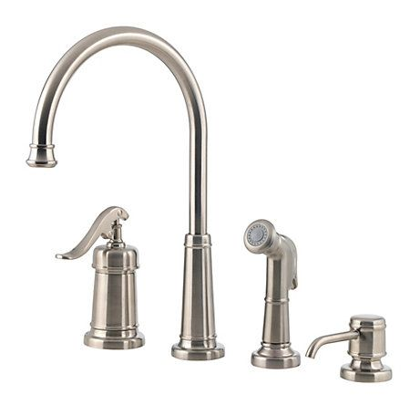 Ashfield 1 Handle Kitchen Faucet With Images High Arc Kitchen