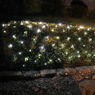 100 White Led Solar Net Light 1 5m X 0 8m Solar Fairy Lights Fairy Lights Garden Solar Powered Garden Lights