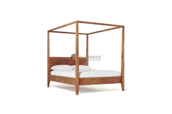 Almaty Poster Bed Queen Size Teak Wood Bed Frames Malaysia In