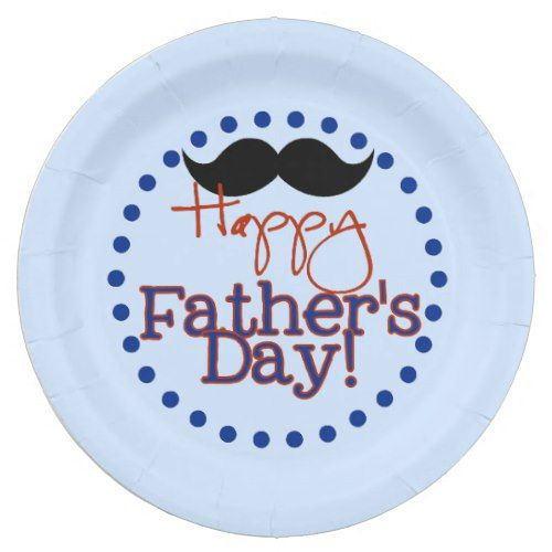 Happy Fathers Day Paper Plates | Zazzle.com