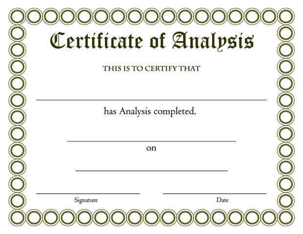 Download Certificate Of Analysis Template  Certificate