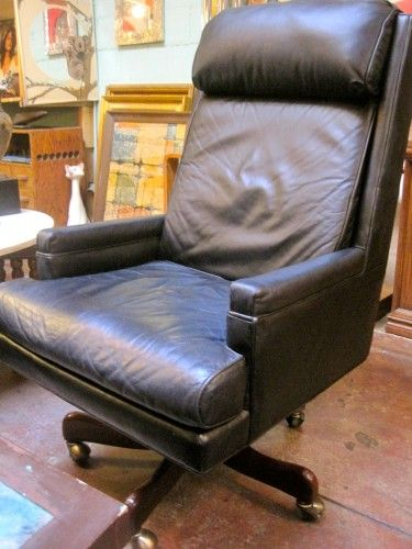Hancock And Moore Leather Executive Office Chair Vintage Chairs