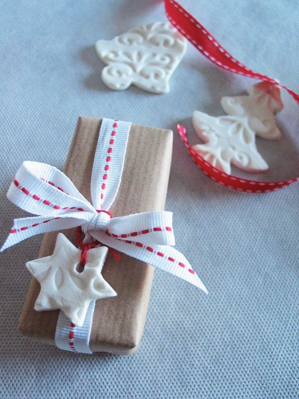 Regali Di Natale Artigianali.Decorazioni Natalizie Con Pasta Di Bicarbonato Kraft Paper Gift