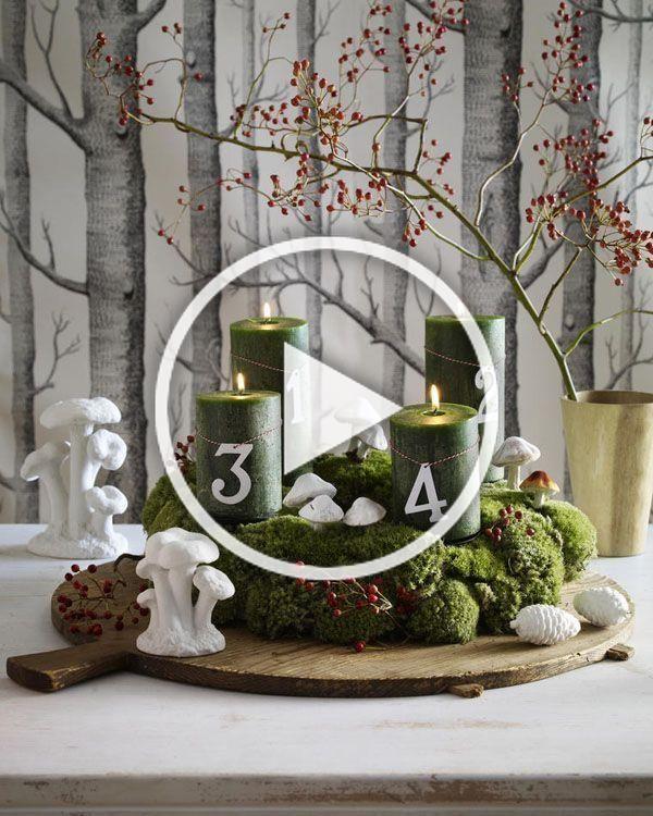 Adventskranz basteln leicht gemacht| Wohnidee :  Adventskranz basteln kann riesi…,  #Advent…
