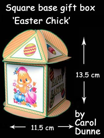 Easter gift box happy easter easter and card making kits easter gift box on craftsuprint designed by carol dunne a cheerful easter gift box with an easter chicken and happy easter on the sides negle Images