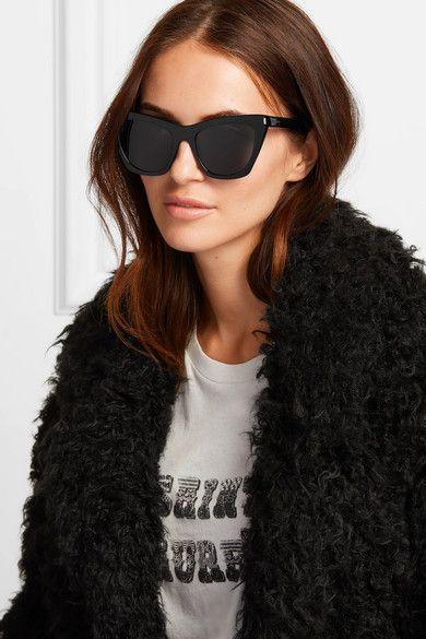 812455f124904 SAINT LAURENT - Kate cat-eye acetate sunglasses in 2019