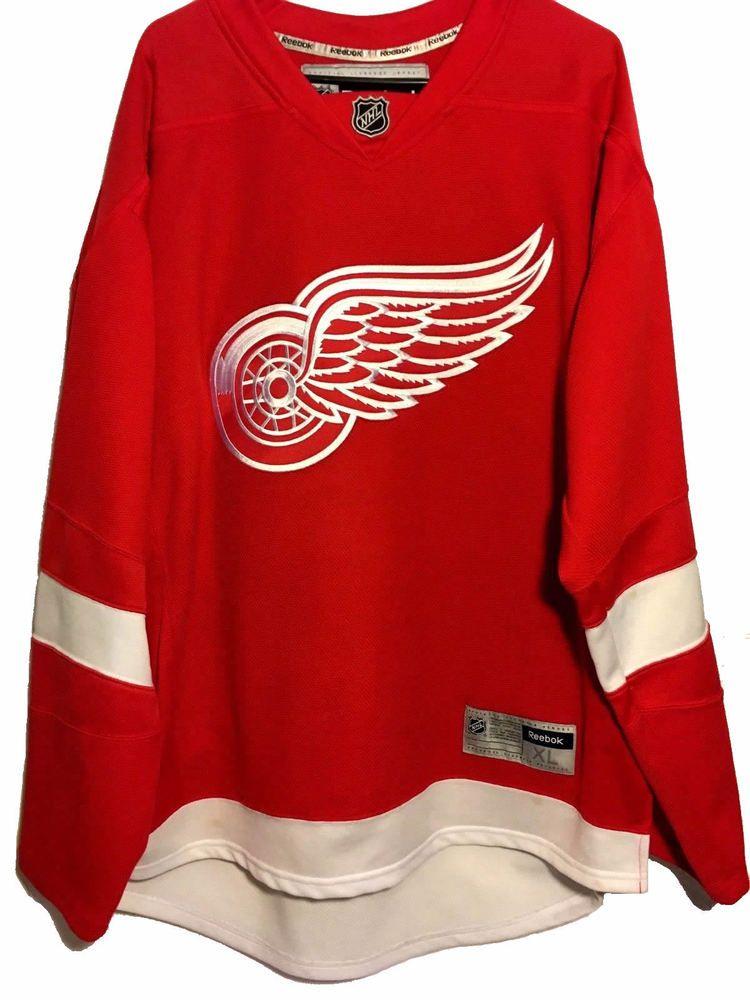Reebok Mens Detroit Red Wings Hockey Jersey Size XL Red NHL  Reebok   DetroitRedWings df75d09a5