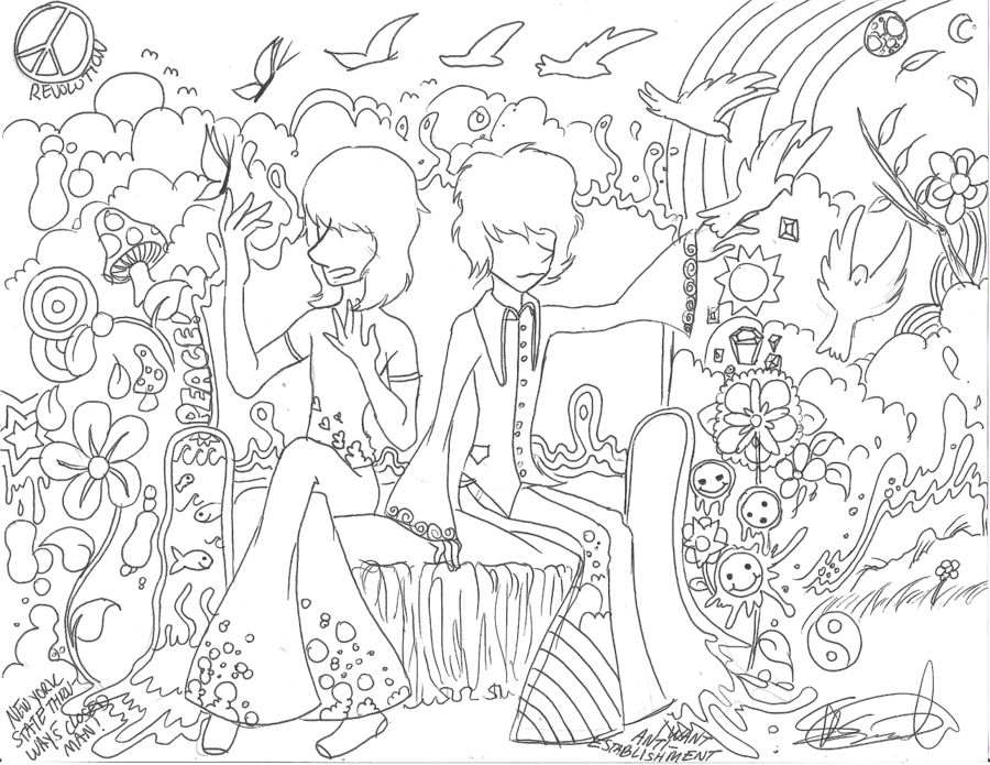 trippy coloring pages printable rog n syds acid trip by electricsorbet