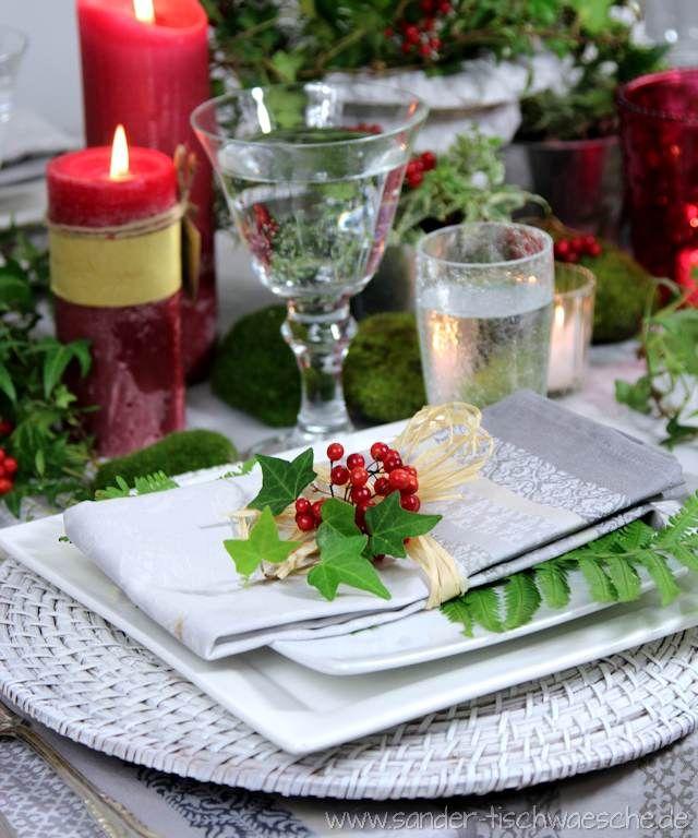 Gedeckter Tisch Im Garten: Servietten Falten Und Dekorieren