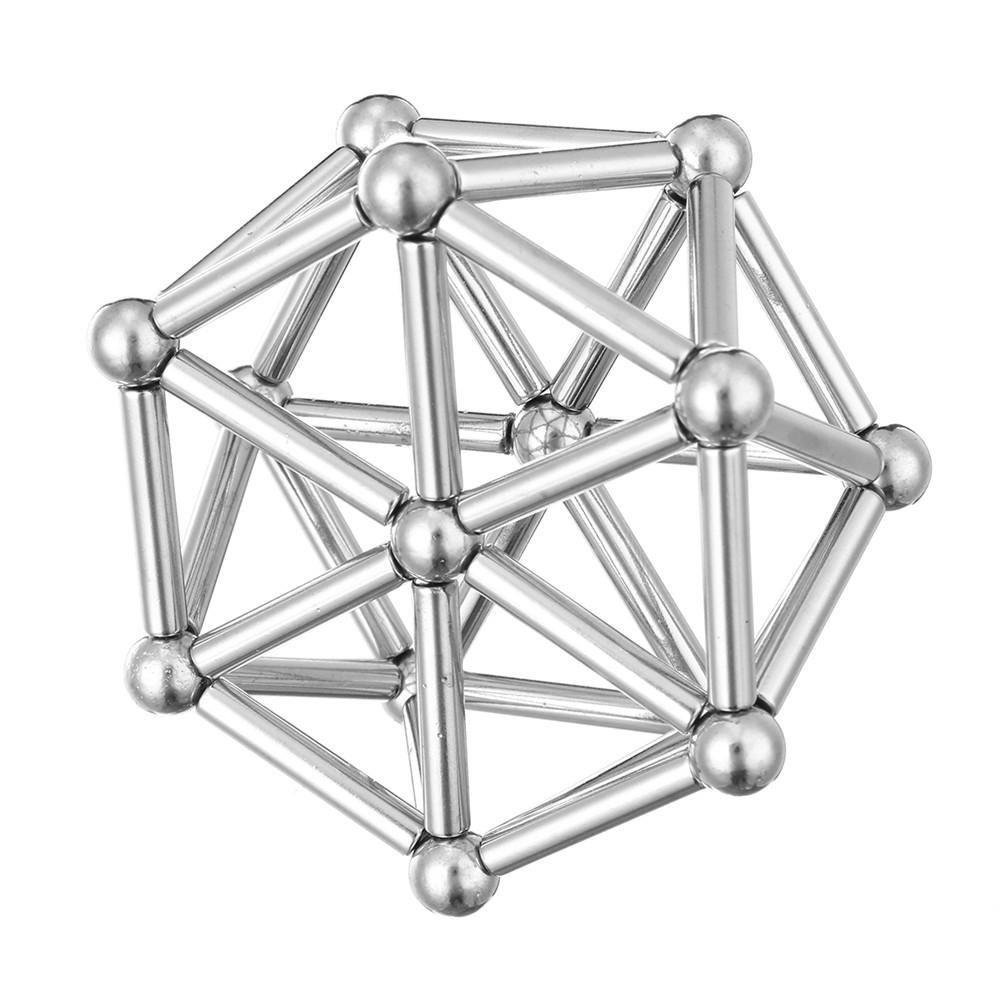 Retail  Box 63Pcs Neodymium Magnet Bars Metal Balls Creative Permanent Magnets