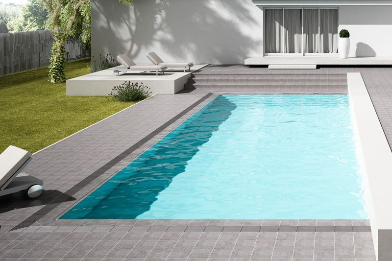 Piscina desbordante cer mica gresmanc color fuji serie for Ceramicas patios exteriores
