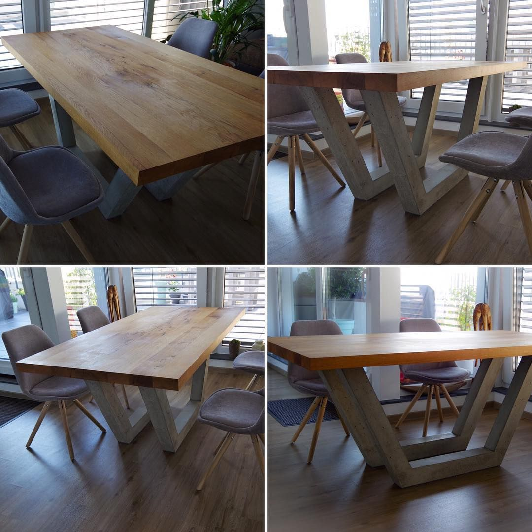 I built this table because I like the combination of old wood and concrete. I made this for my dear friends. . . Diesen Esstisch habe ich gebaut weil mir die kombination aus altem Holz und Beton sehr gut gefällt. Ich habe ihn gemacht für Freunde die mir am Herzen liegen. . . . #wood #woodworking #oldwood #art #room #concretedesign #concrete #concreteart #woodwork #woodworker #design #home #homedesign #artwork #nice #newdesign #instawood #instadesign #beton #holz #betontisch #cemento