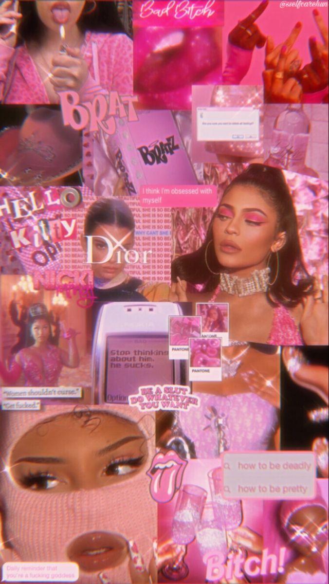 Pink Baddie Aesthetic Wallpaper