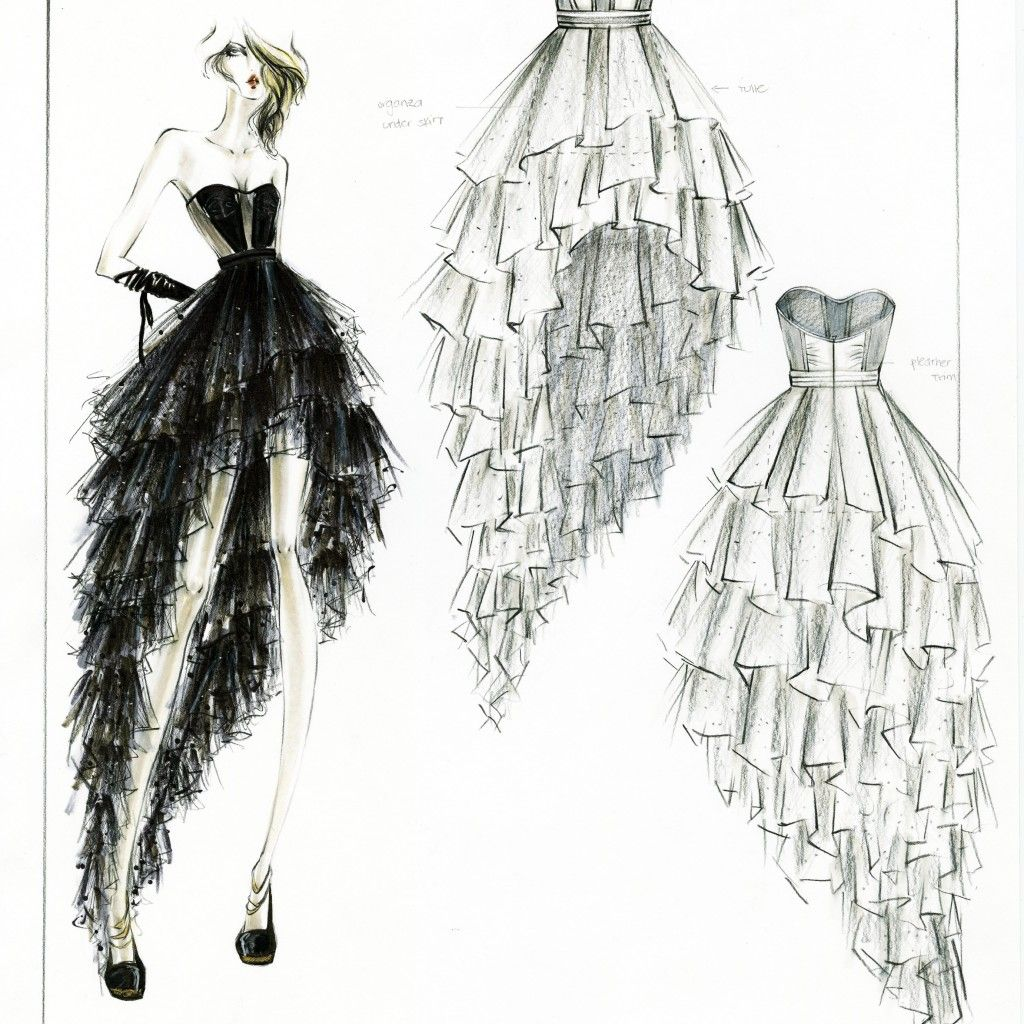 Line Drawing Newspaper : Fashion design sketches