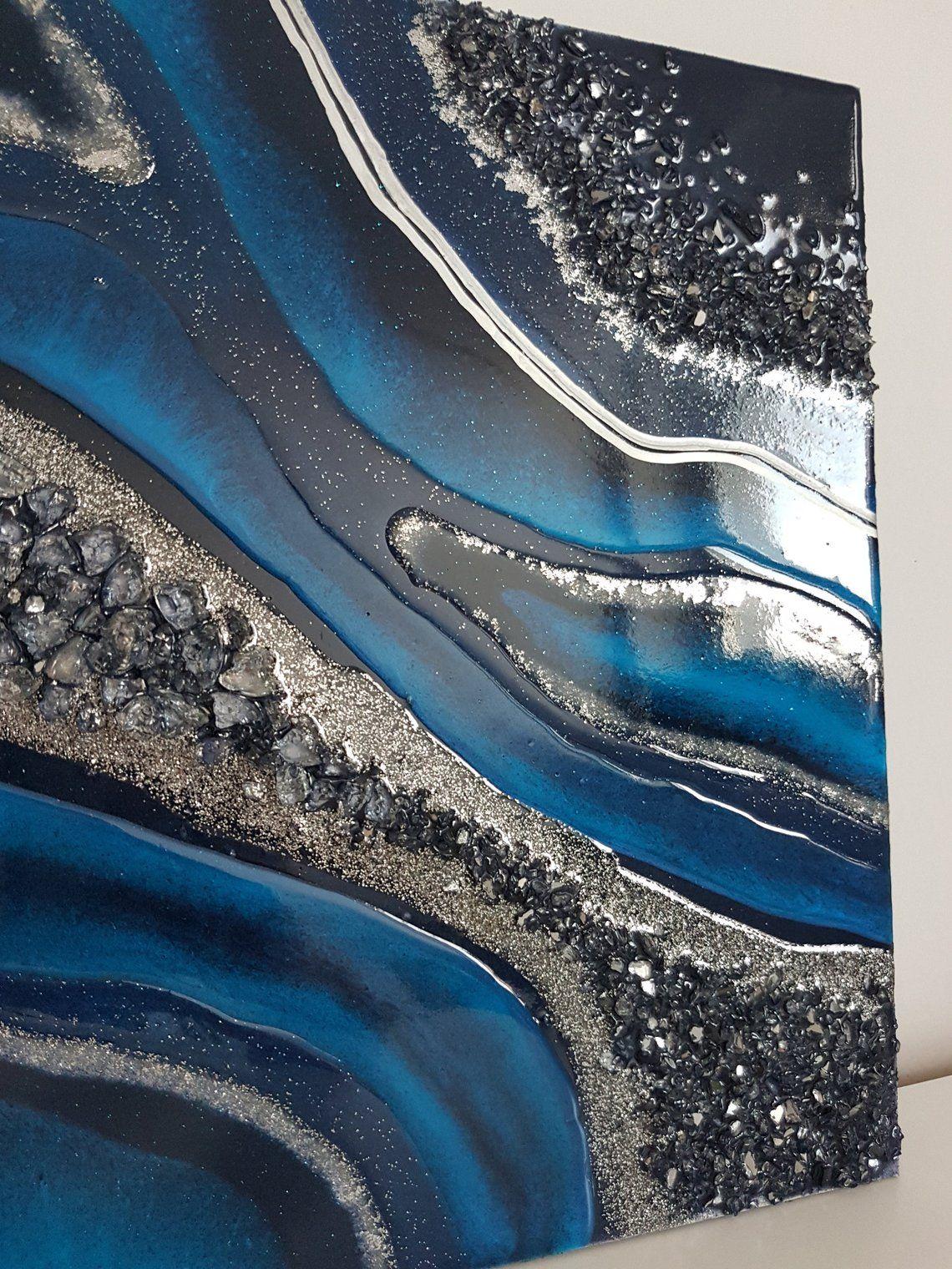 Custom Moonlight Geode Resin Art Resin Art Painting Resin Art Resin Painting