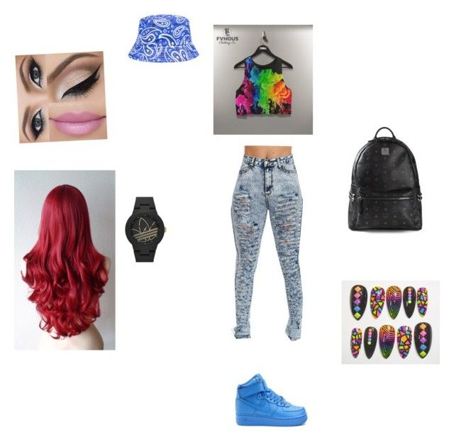 """Kill em."" by vahj4life ❤ liked on Polyvore featuring adidas Originals, NIKE and MCM"