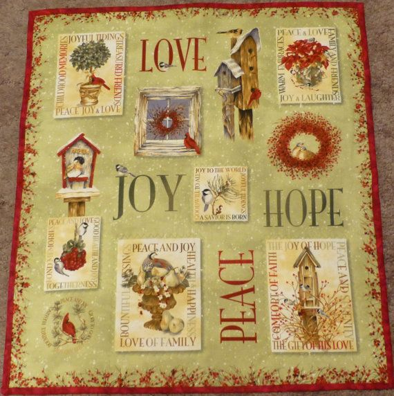 Pattern and fabric to make Love and Peace wall Art