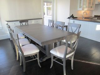 Custom Designed Dining Table Dining Tables Vancouver Cr Wood Furnishings Grey Dining Tables Grey Kitchen Table Kitchen Table Wood