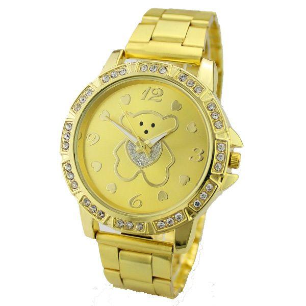 Cheap Relojes mujer 2016 bolso de relojes para mujer teddy bear reloj análogo de cuarzo de oro arenoso de la rutina dial relojes de pulsera, Compro Calidad Relojes de moda directamente de los surtidores de China:                  Curren Mens relojes de primeras marcas de lujo Hombre Militar del ejército reloj masc