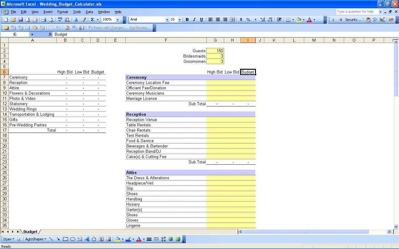 wedding expense spreadsheet wedding planning pinterest