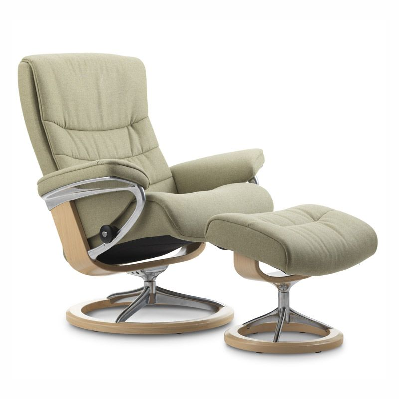 Small Chair With Ottoman: Leather Recliner Chair, Small