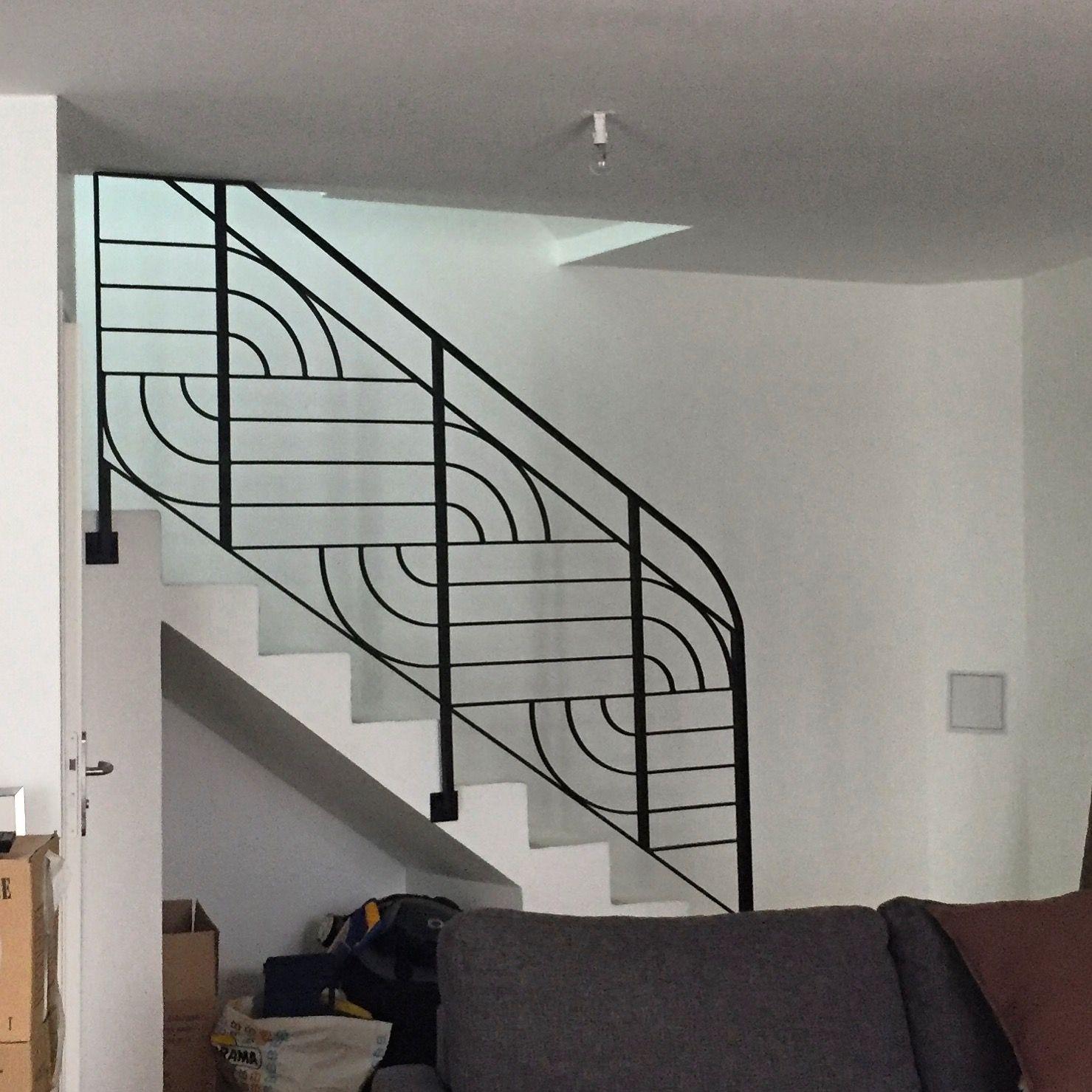 Style art déco , cette rampe d\'escalier d\'intérieur sera donner un ...