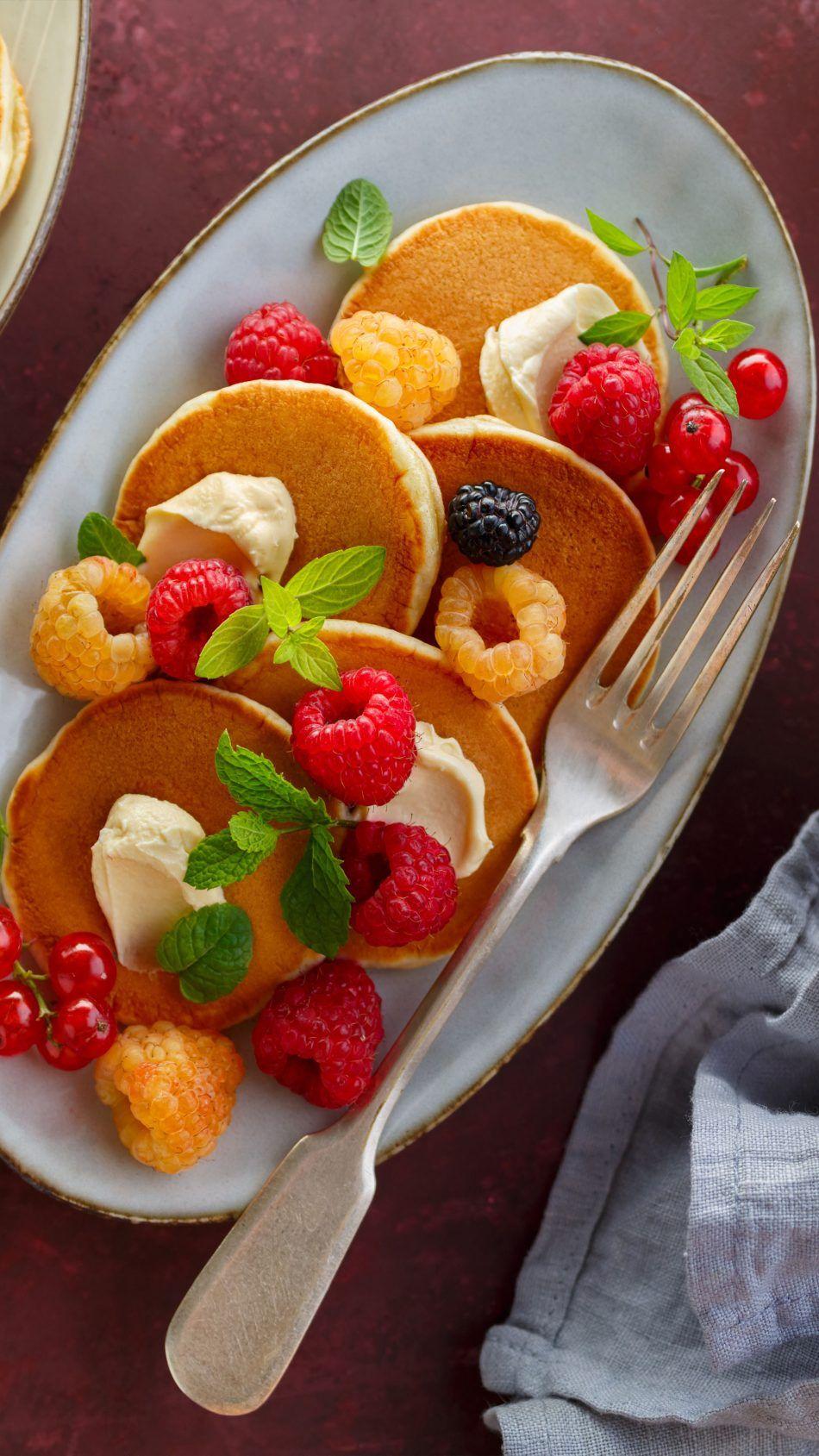 Pancake Raspberry Ice Cream Raspberry Ice Cream Food Yummy Food
