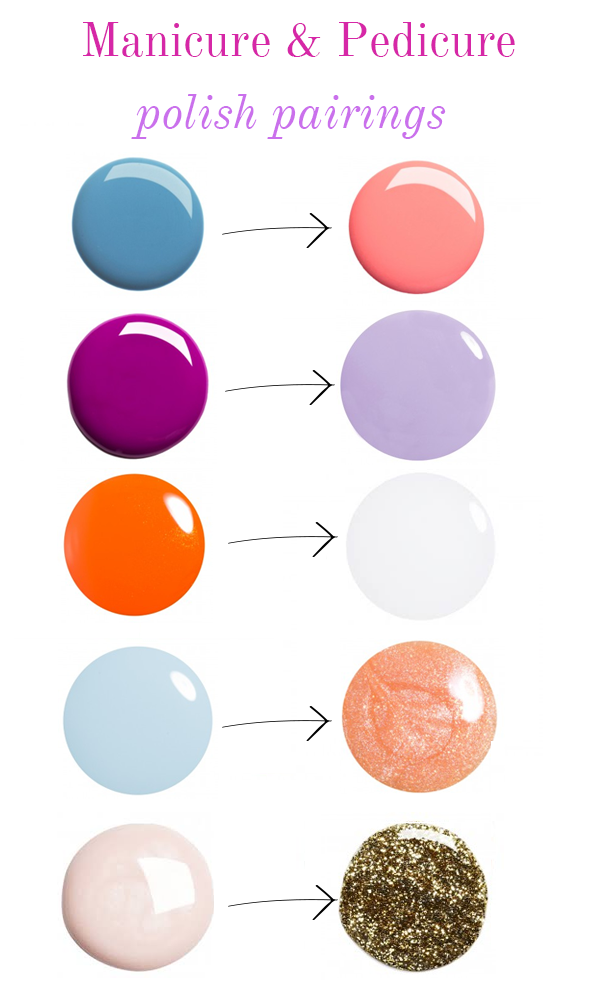 A Mani-Pedi Chart for Unusual and Awesome Colour Combinations