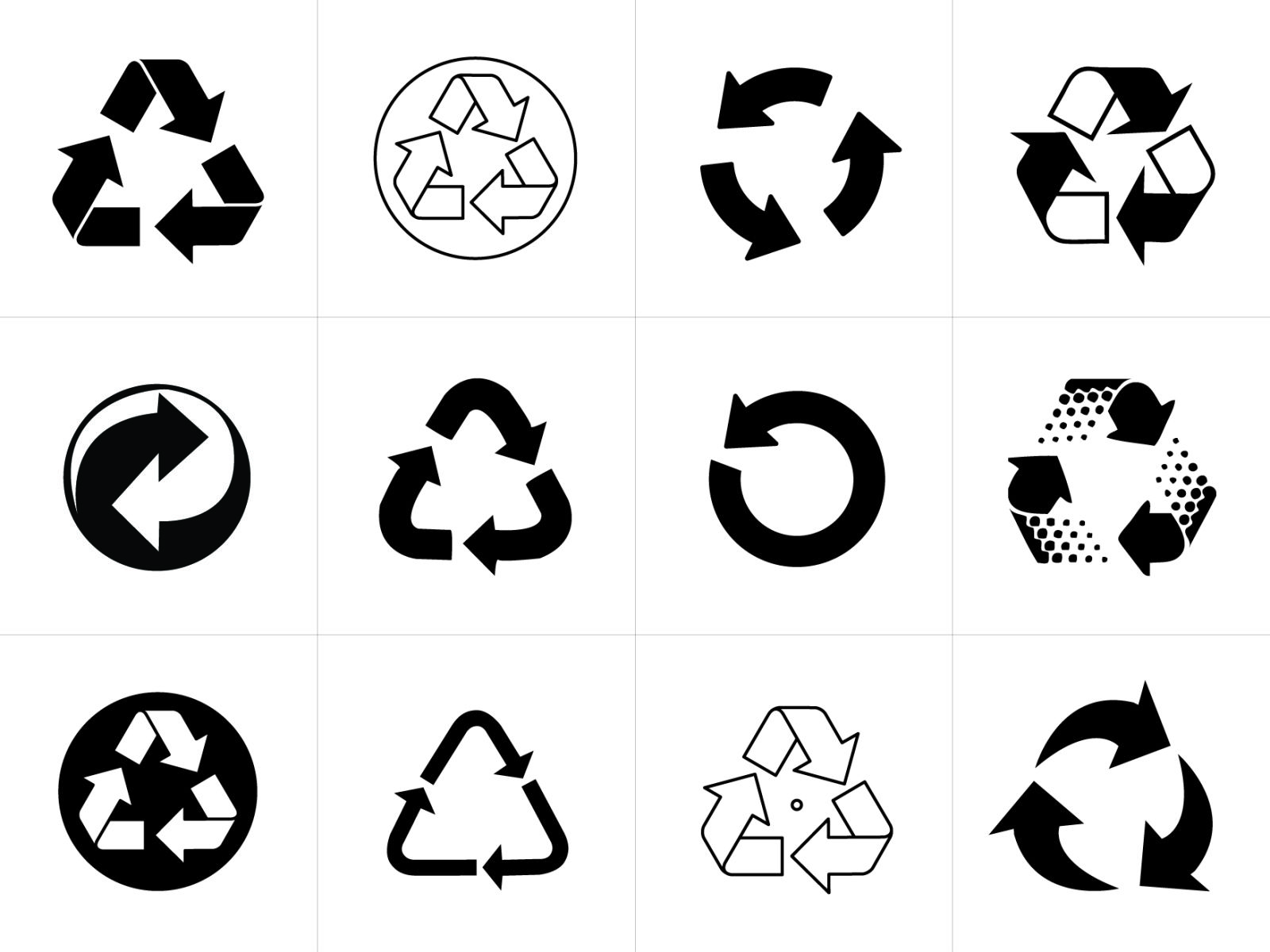 Recycling Symbol Vectors For Download Recycle Symbol Beauty