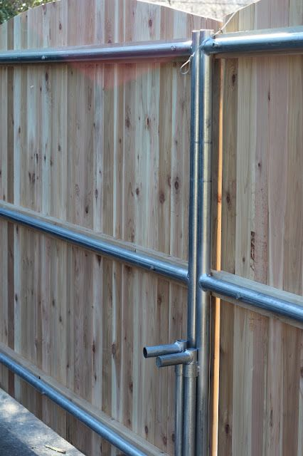 Pine Tree Home Wood Fence Gate With Galvanized Frame Wood Fence Gates Wooden Fence Gate Wood Gates Driveway