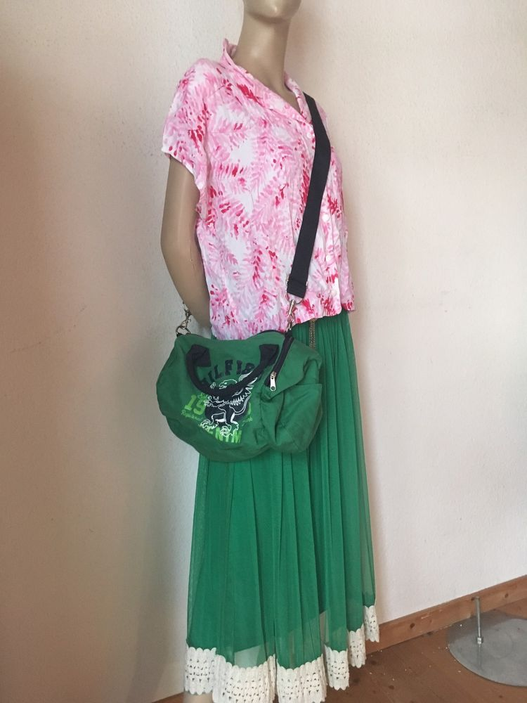 wholesale dealer 8a473 12d75 vintage Rock Tüllrock grün croped Bluse pink weiß Tasche ...