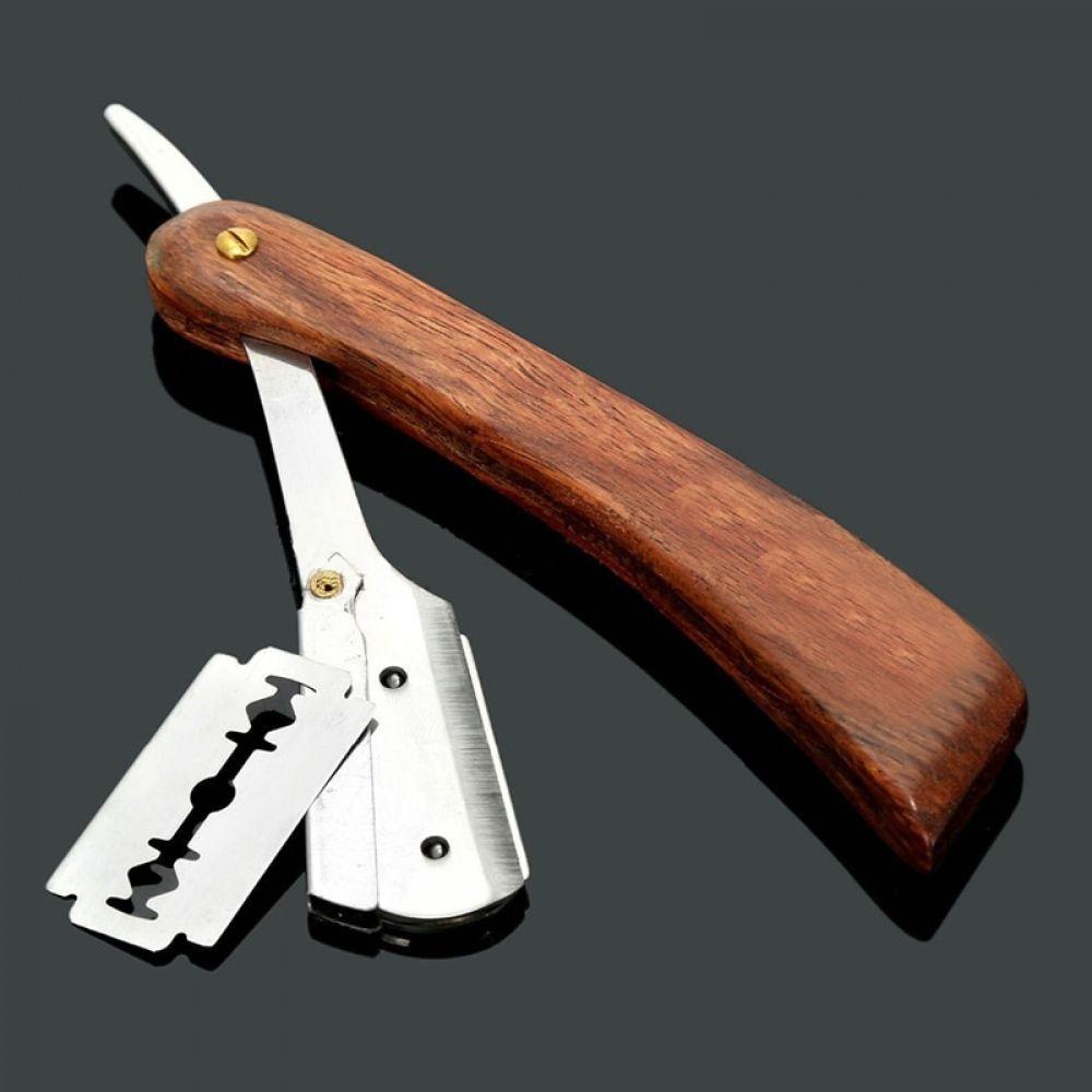Folding edge steel razors vintage shaving knife straight