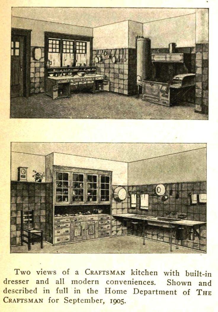 Craftsman Kitchen 1910s Arts Amp Crafts Style Old House