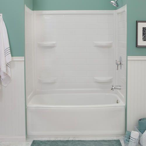 Lyons Contour 32 X 60 X 59 Tile Bathtub Wall Corner Shelf At Menards Bathtub Tile Bathtub Walls Bathtub Wall Surround