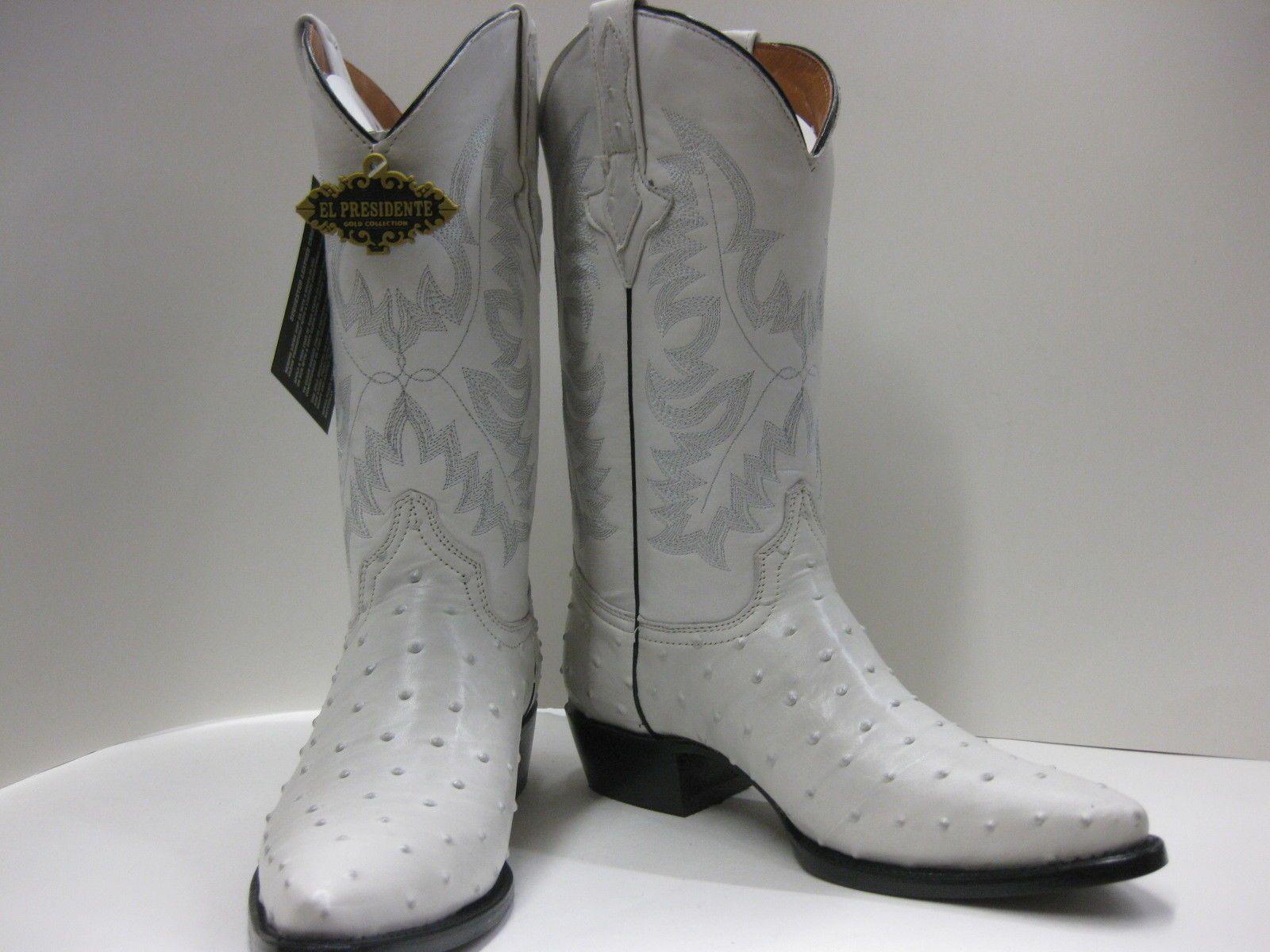 f152b6e9b21 Details about Men's Cowboy Boots Ostrich/Crocodile Print Leather ...