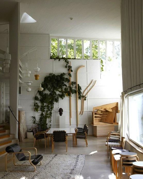 Alvar Aaltou0027s Helsinki Studio By Leslie Williamson / Vines Inside House