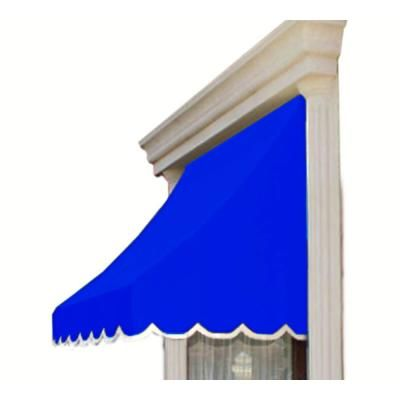 Awntech 10 38 Ft Wide Nantucket Window Entry Awning 31 In H X 24 In D In Bright Blue In 2019 Outdoor Shade Window Awnings Framed Fabric