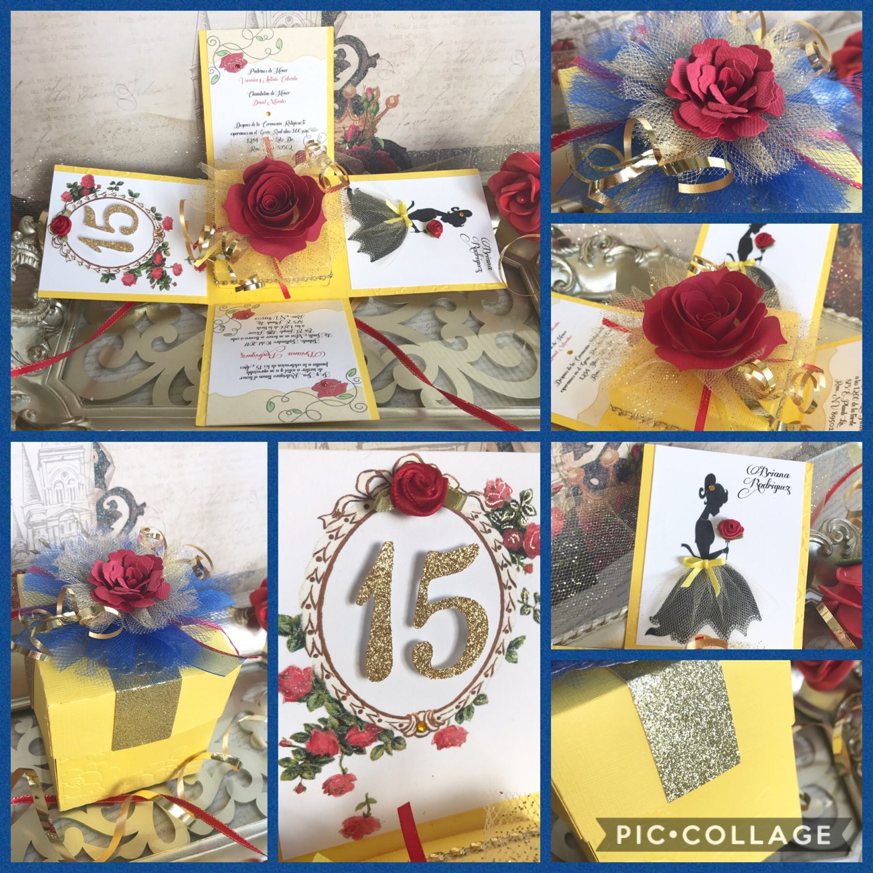 Beauty And The Beast Theme Quinceanera Explosion Box