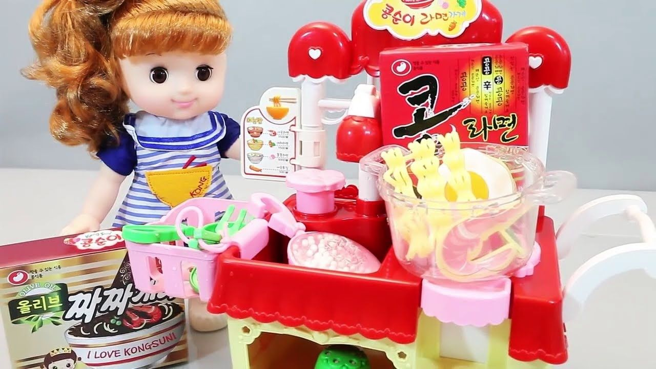 Play Doh Küche Youtube Baby Doll Kitchen Playset And Cooking Trolley Baby Cooking Toys
