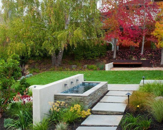 Cascade de jardin, fontaine et bassin- 80 oasis modernes | Fontaines ...