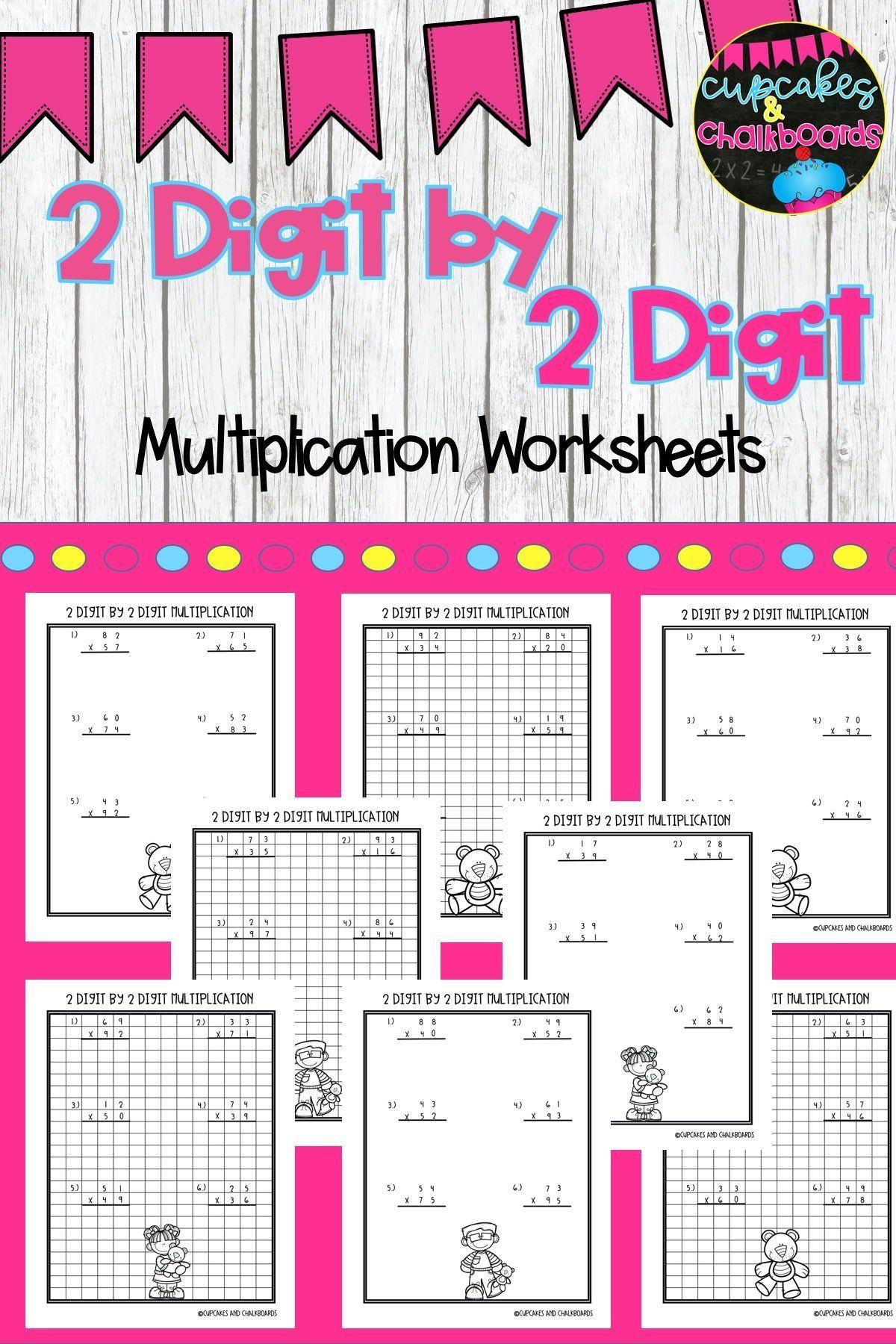 2 Digit By 2 Digit Multiplication Worksheets In