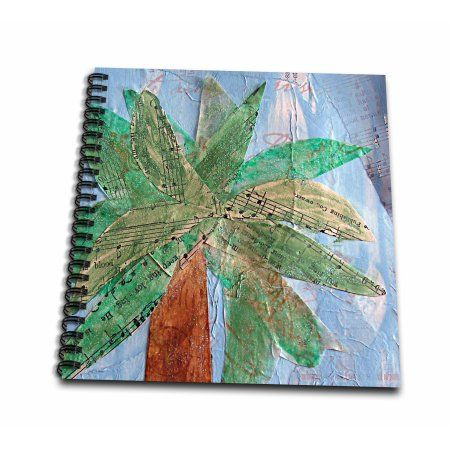 3dRose Mixed media Palm Tree by Angelandspot - Drawing Book, 8 by 8-inch - Walmart.com