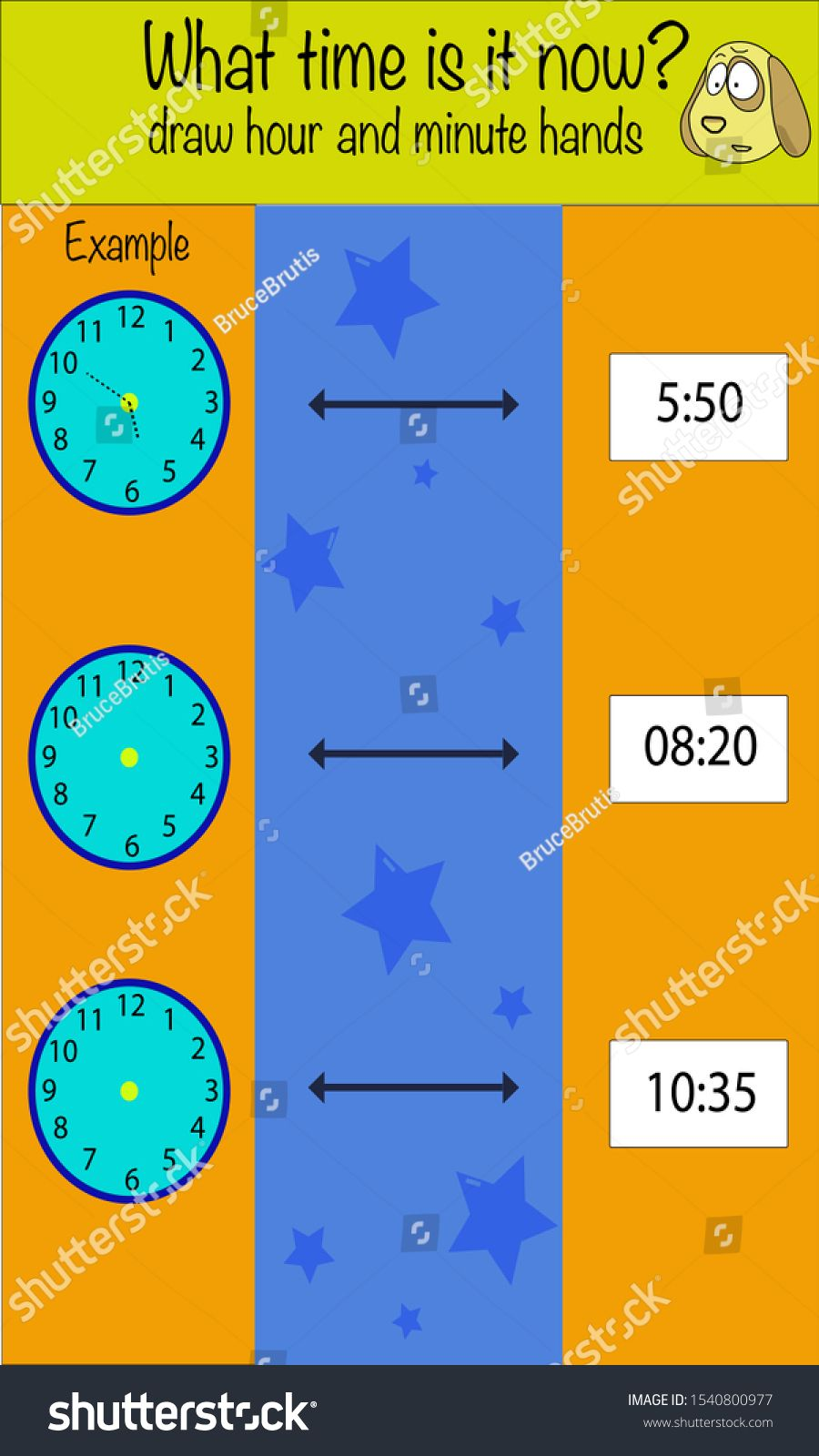 Puzzle Game For Children What Time Is It Now Preschool Worksheet Activity For Kids Education Game Brain Games Kids Worksheets Printables Worksheets For Kids [ 1600 x 900 Pixel ]