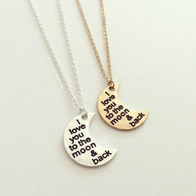 """❤️I love you, moon necklace #new Shop www.imsmistyle.com  #iloveyou #moon #necklace #friendship #jewelry"""