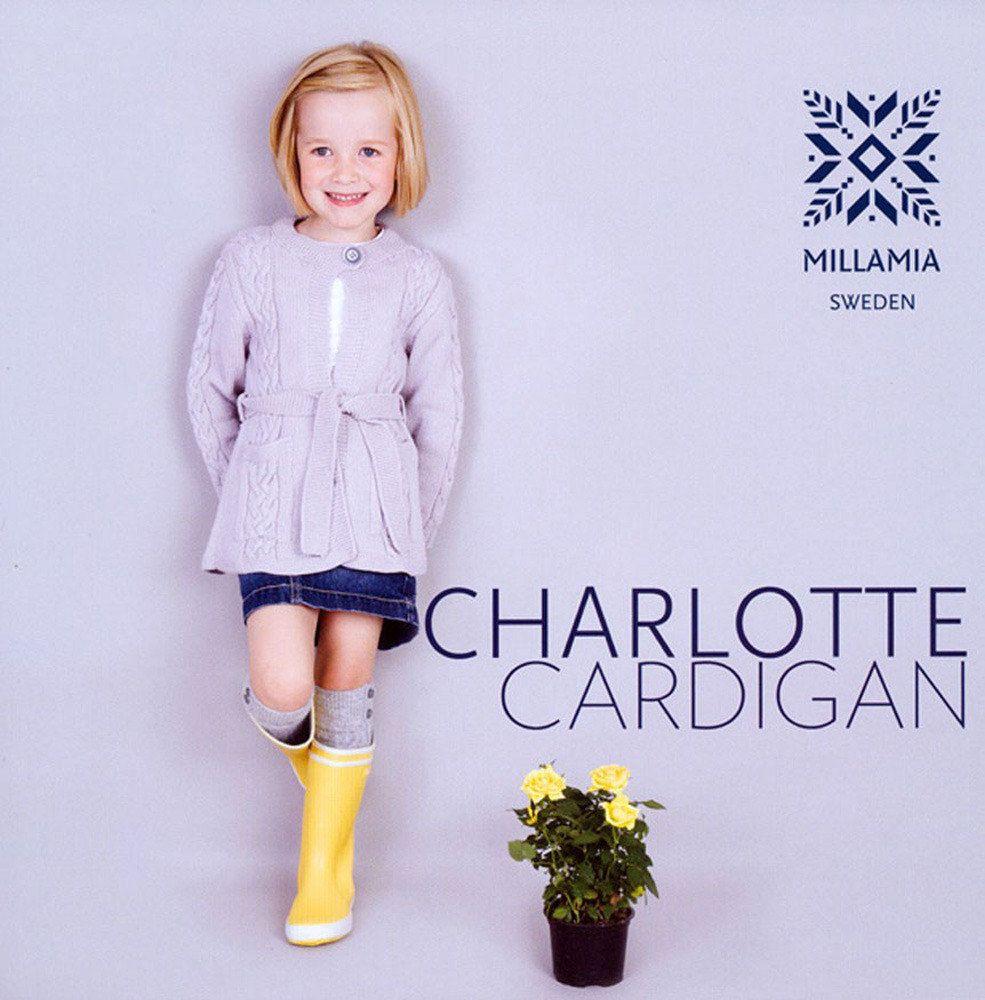 Girls' Charlotte Cardigan in MillaMia Merino Wool - download the pattern from LoveKnitting!