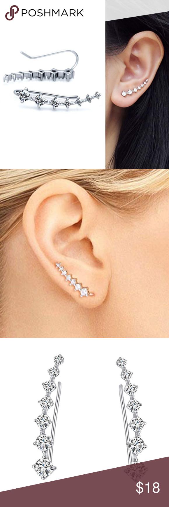 All Colors Hypoallergenic Piercing Ear Cuffs Boutique Ear Piercings Ear Piercing Places Ear Climbers Earrings