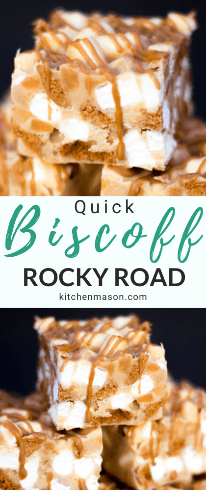Quick Biscoff Rocky Road Recipe Video Step By Step Picture Recipe Recipe Rocky Road Recipe Easy Party Desserts Biscoff Recipes